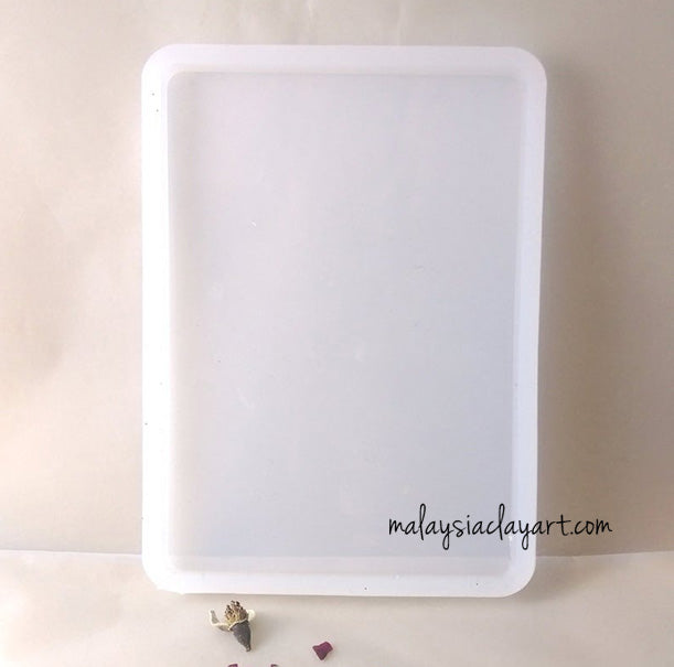Big Rectangle Coaster High Gloss Silicone Mold