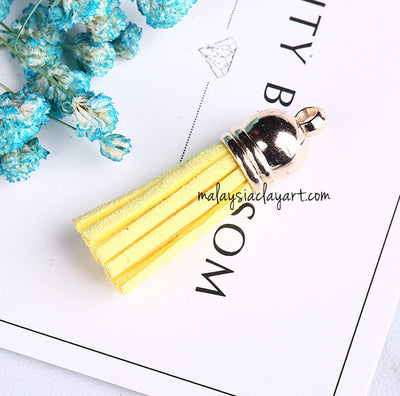 Ultrasuede Leather Tassels with gold cap for Earrings Pendant Jewelry