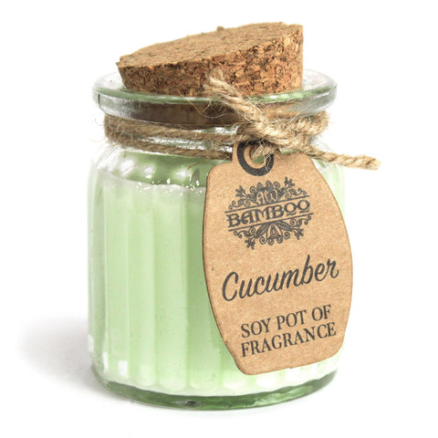 Cucumber Soy Pot of Fragrance Candles x2