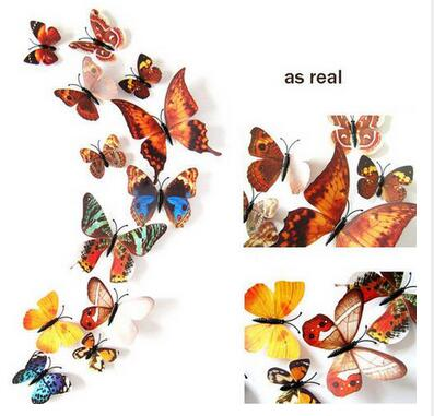 3D Butterfly Wall Stickers (12 set)