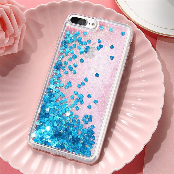 Love Heart Sparkly Glitter Case