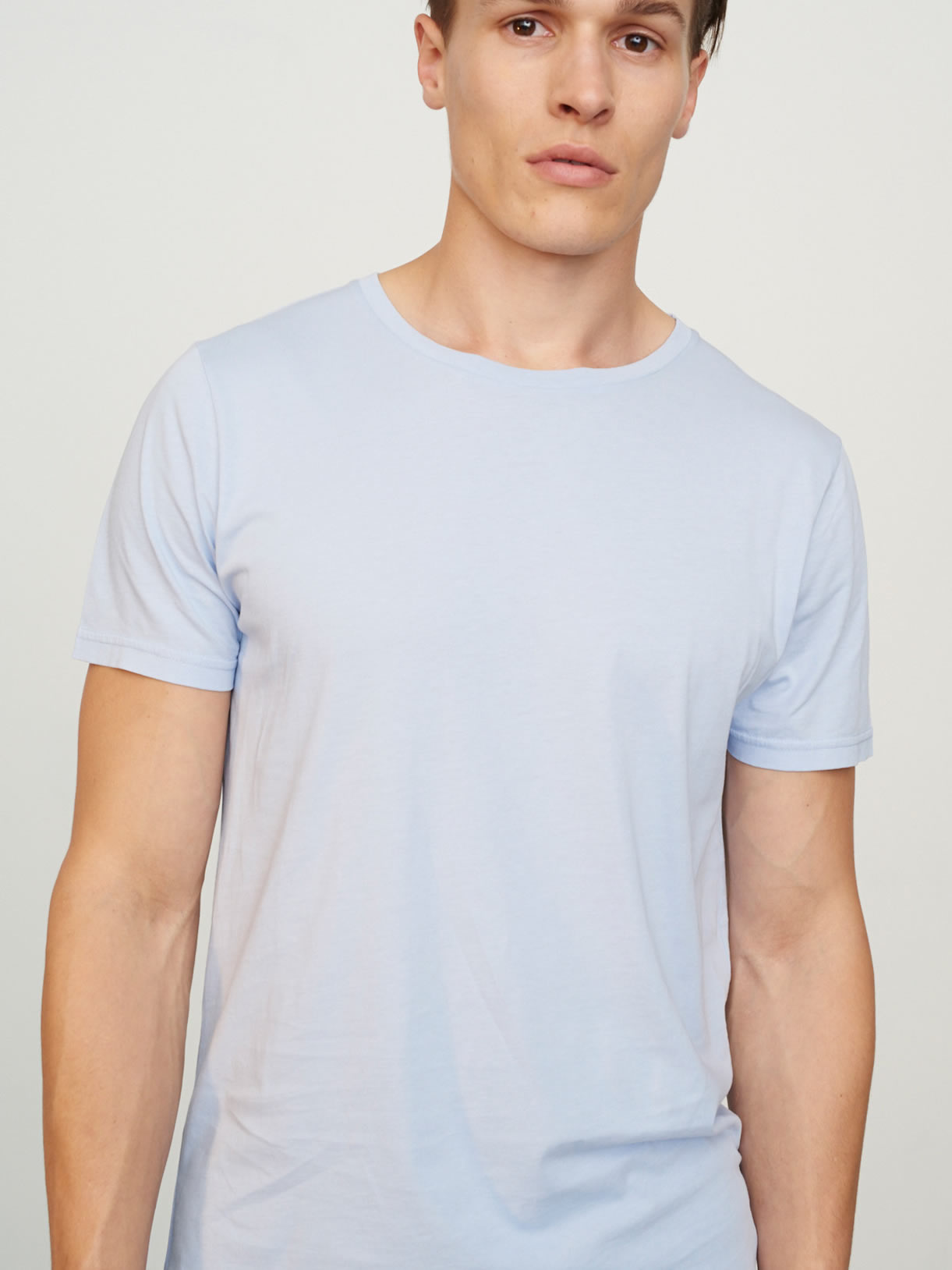 Men's Classic Rib Crew Neck Sky Blue