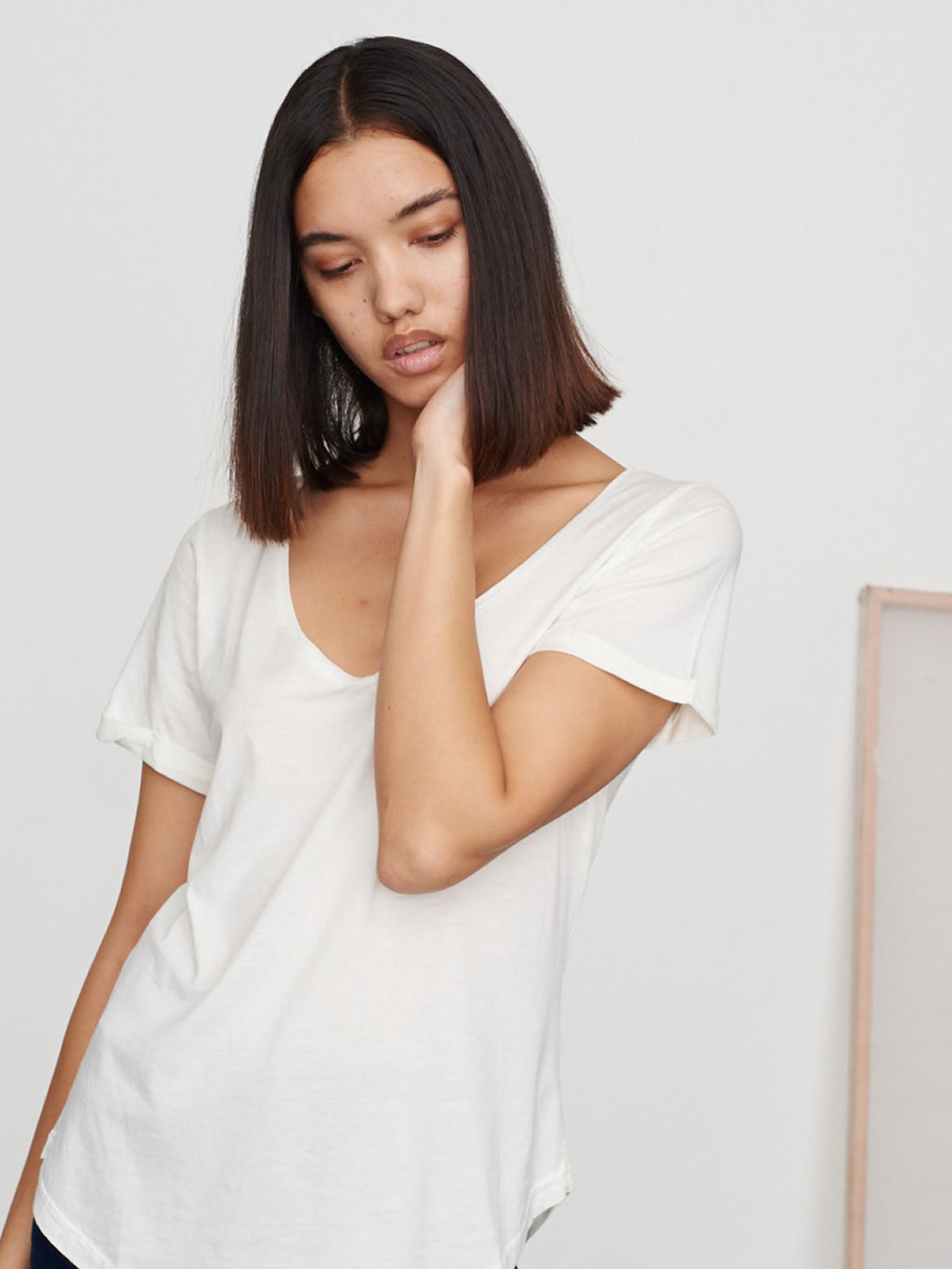 Moonlight V-Neck Supima Tee