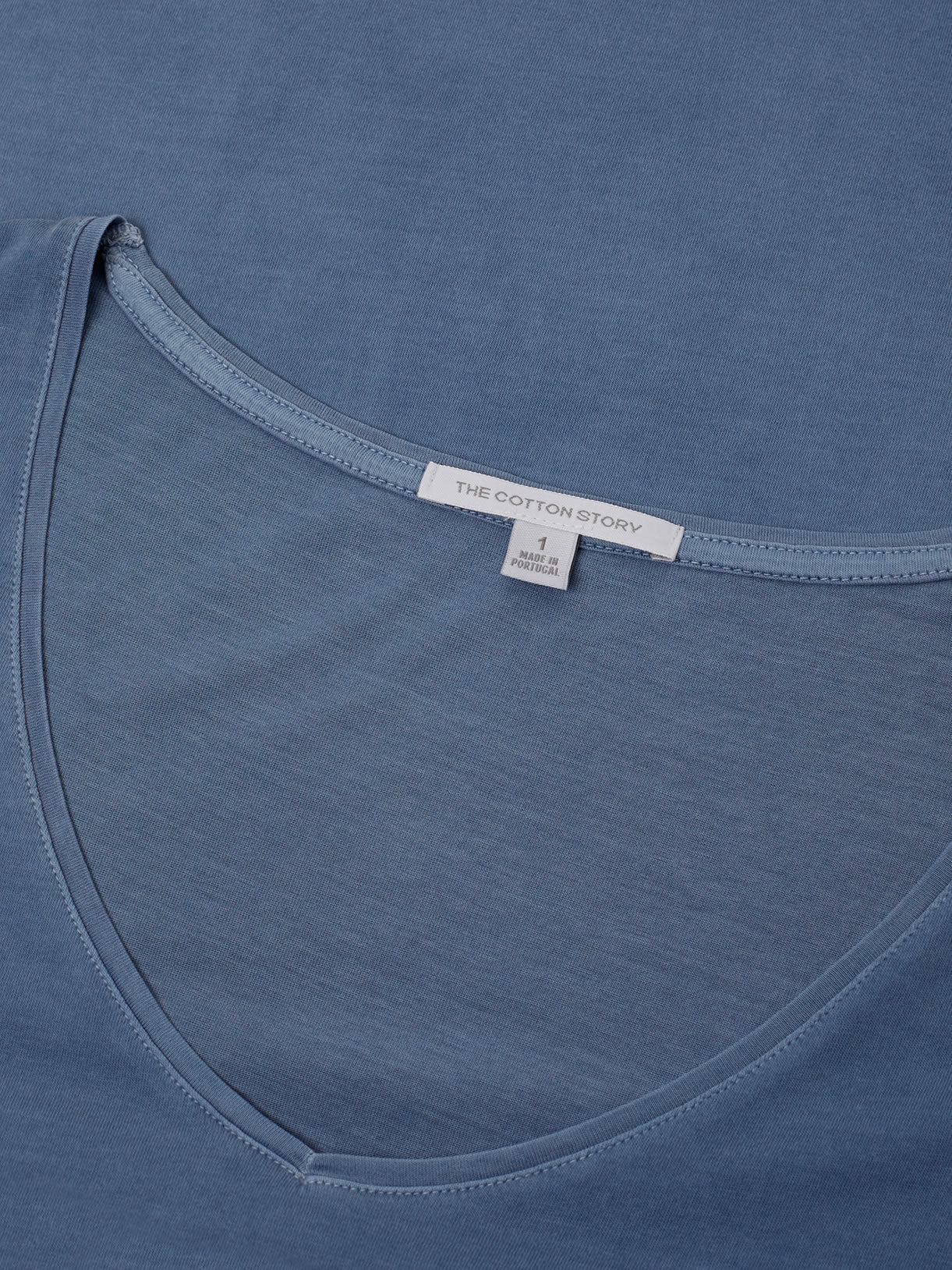 Stone Blue V-Neck Supima Tee