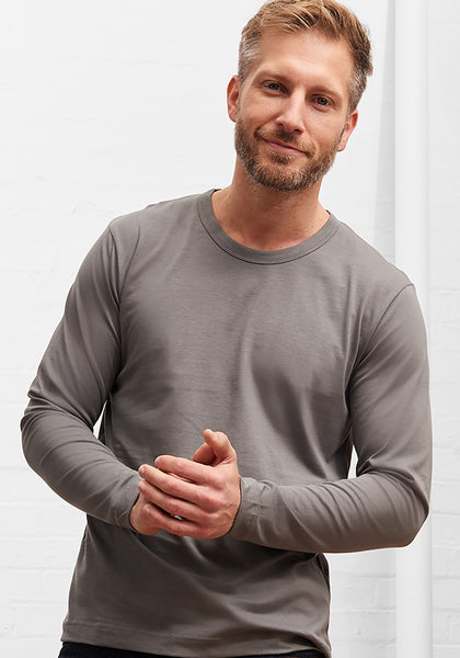 Men's Long Sleeve Tee Charcoal