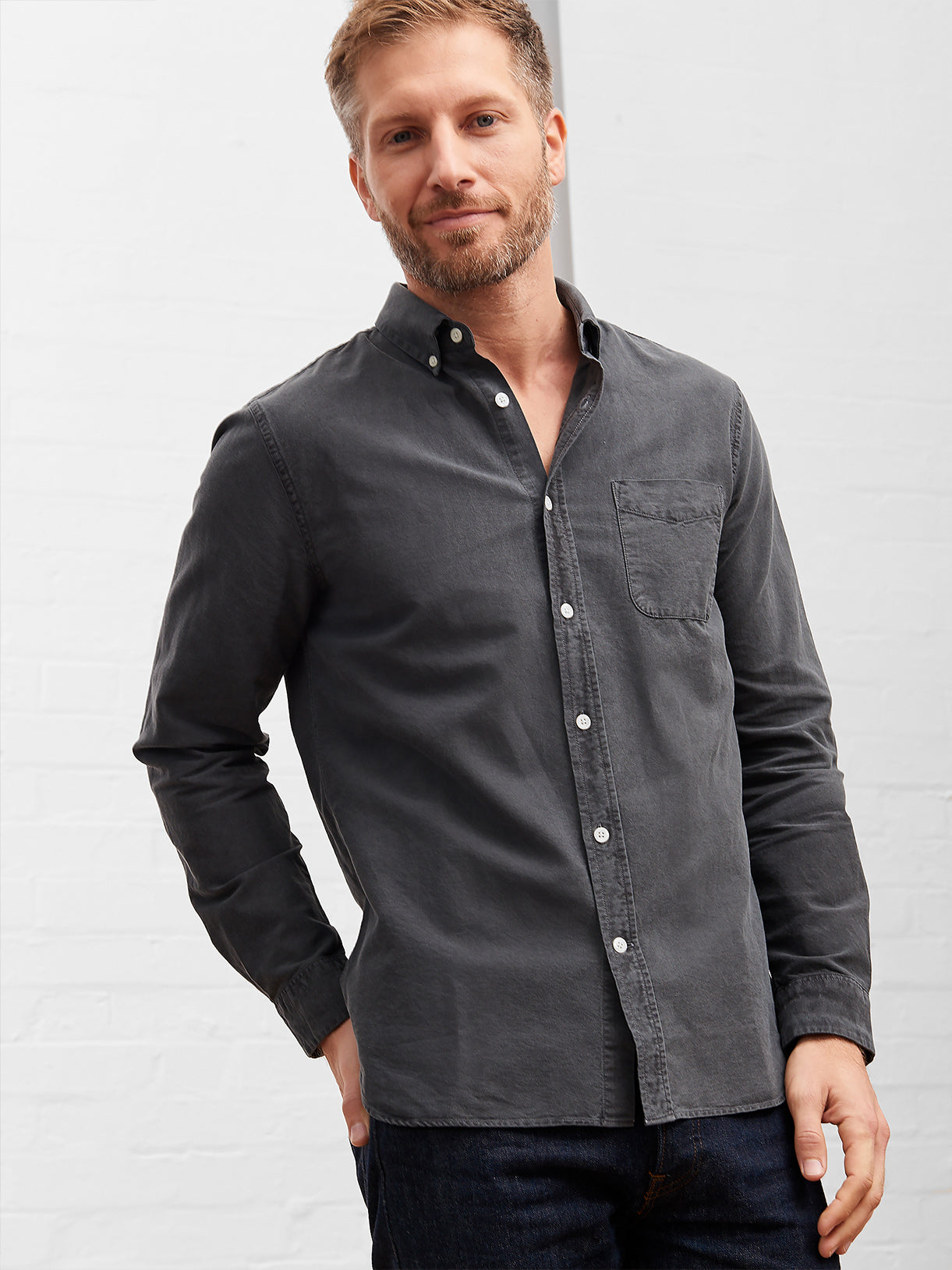 Men's Oxford Shirt Granite