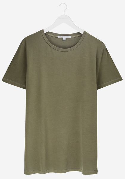 Men's Classic Rib Crew Neck Khaki Green