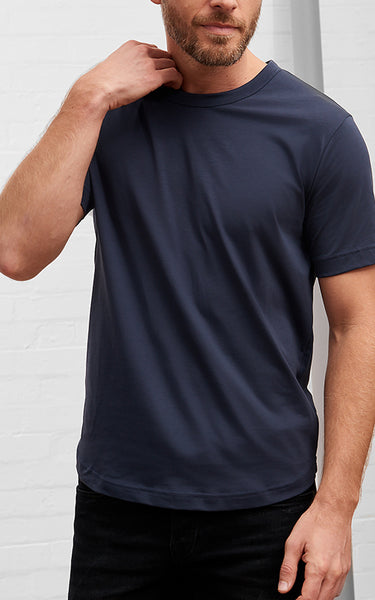 Men's American Crew Neck Tee Deep Navy