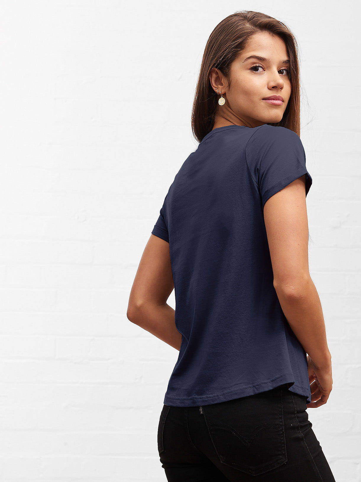 Women's Classic Round Neck Tee Deep Navy