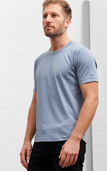 Men's American Crew Neck Tee Riviera Blue