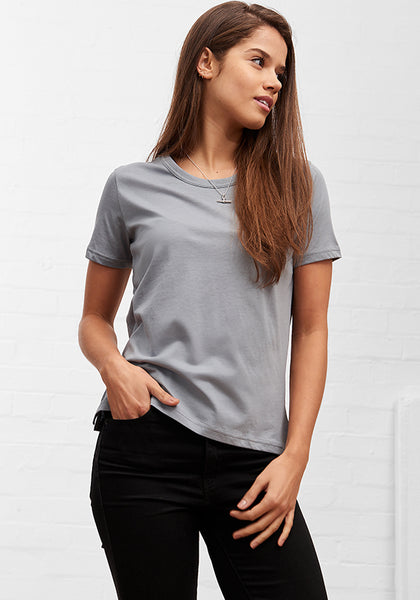 Women's Straight Cut Tee Steel Grey