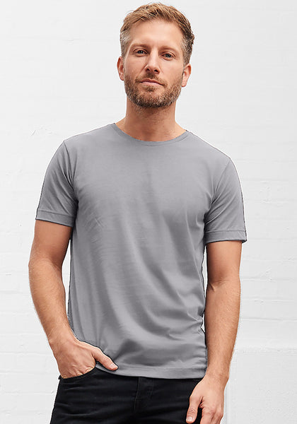 Men's Classic Rib Crew Neck Steel Grey