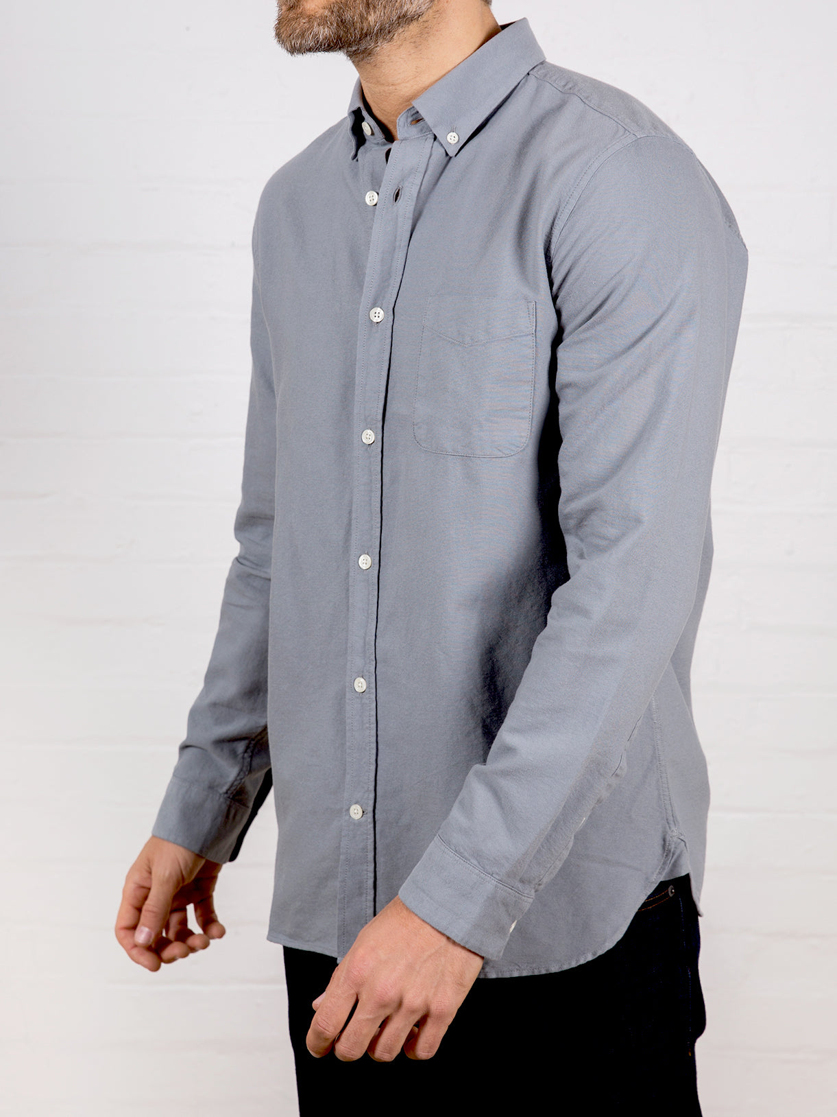 Men's Oxford Shirt Steel Grey