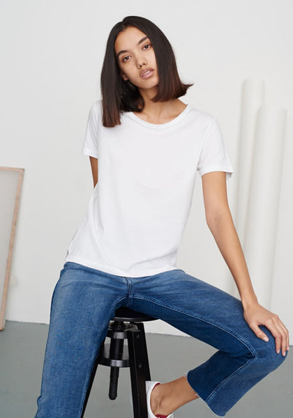 Women's Straight Cut Tee White