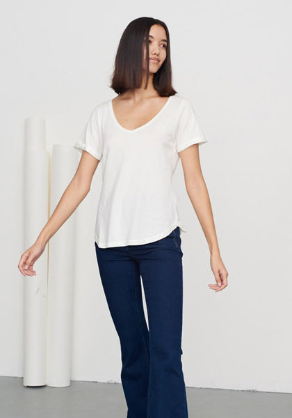 Women's Classic V Neck Tee Moonlight