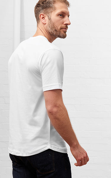Men's American Crew Neck Tee White