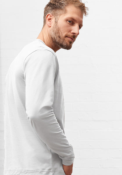 Men's Long Sleeve Tee White