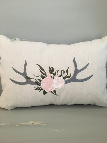 Whimsical Antler pillow