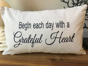 Grateful Heart pillow