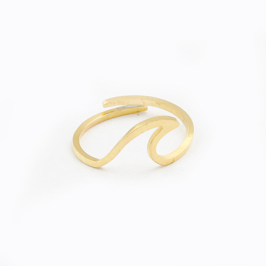 Simple Summer Beach Wave Ring Handmade Wire Wrap Surf Rings For ...