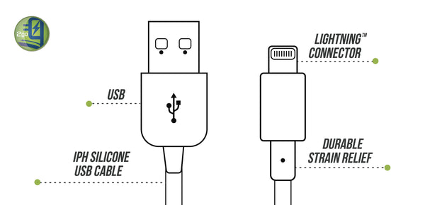 Ihone USB silicone cable ilustration