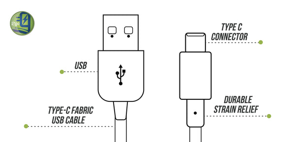 Type C Fabric USB Cable for Android Samsung Fast Charge