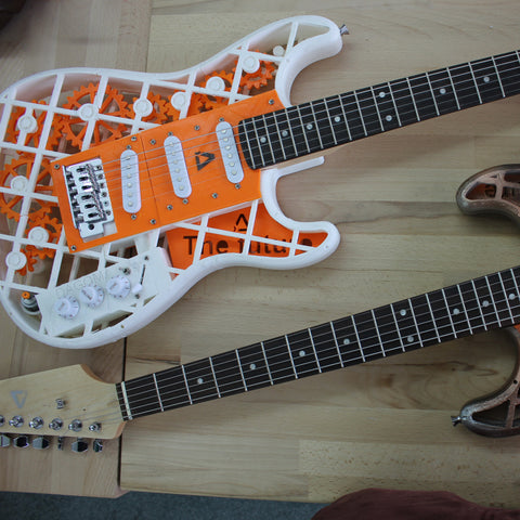 3D printed electric guitars
