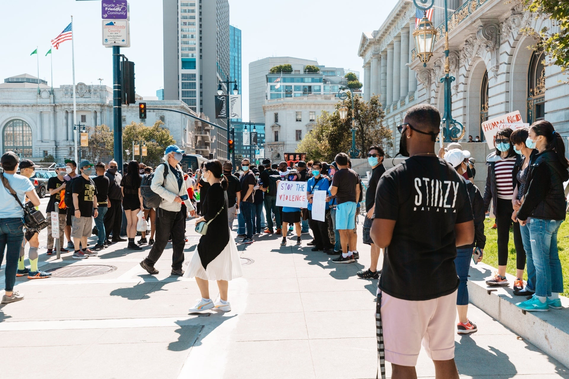 'THEY CAN'T BURN US ALL' ANTI-RACISM RALLY IN SAN FRANCISCO