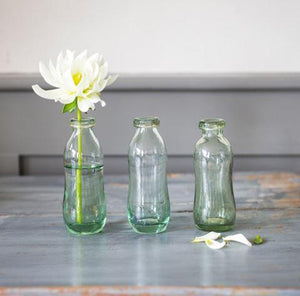 GLASS VASES - SET OF 3
