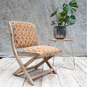 AKINYI FOLDING CHAIR - OCHRE
