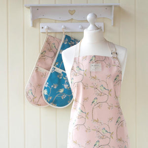 BLUE TIT ON BLOSSOM - APRON (PINK)