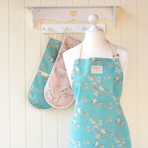 BLUE TIT ON BLOSSOM - APRON (TURQUOISE)