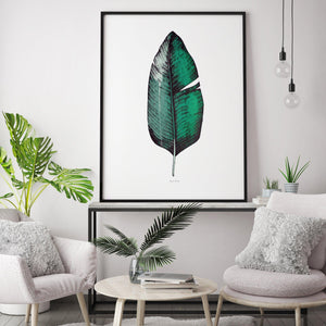 TROPICAL BANANA LEAF PRINT