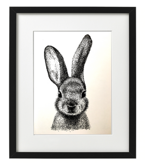 RABBIT PEN & INK - PRINT