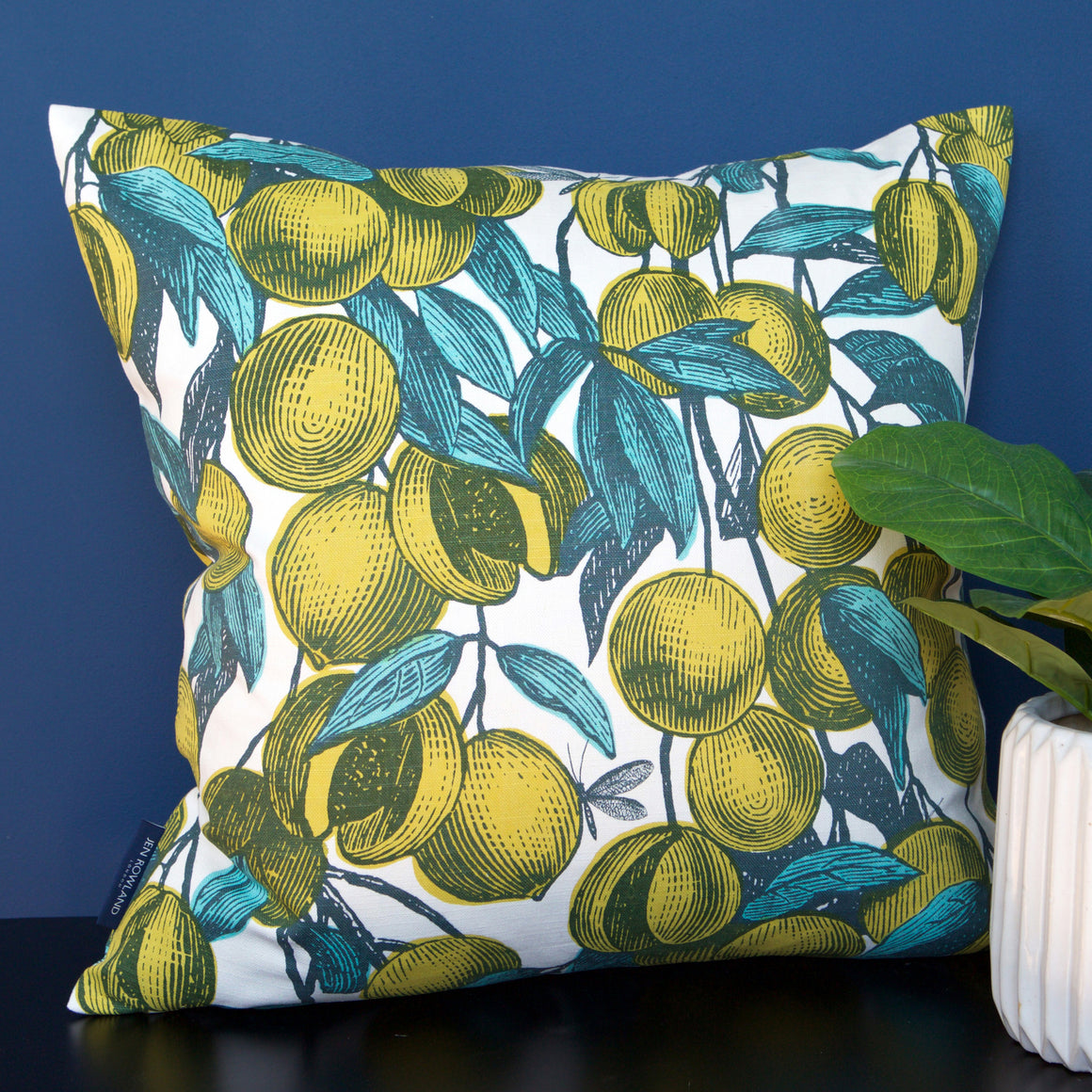MUSTARD - FRUITS CUSHION