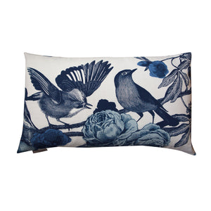 GARDEN BIRDS - BLUE CUSHION