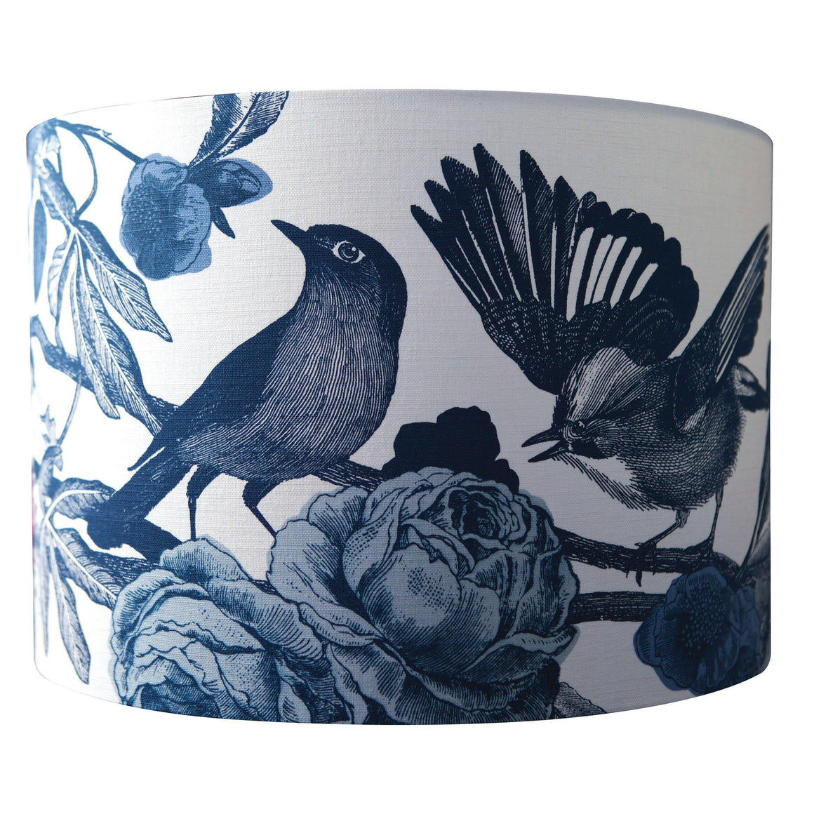 INK BLUE GARDEN BIRDS LAMPSHADES