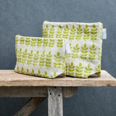 GREEN LEAF LINEN WASHBAG
