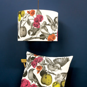 GARDEN BIRDS - BRIGHT CUSHION