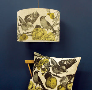 GARDEN BIRDS - MUSTARD CUSHION