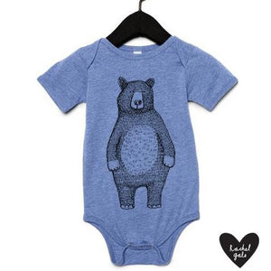 MR BEAR - BABY GROW - BLUE