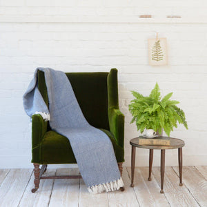 NAVY/WHITE ECO-FRIENDLY BLANKET