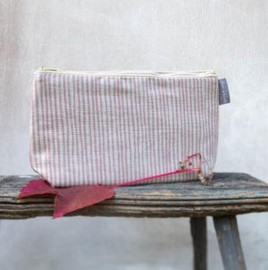 PINK STRIPE WASHBAG