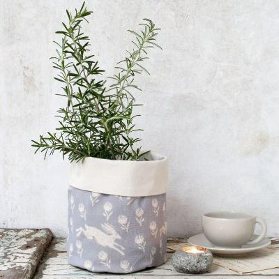 RUNNING HARE GREY COTTON POT BAG