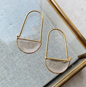 SHYLA MINI MACKE EARRINGS - CHAMPAGNE