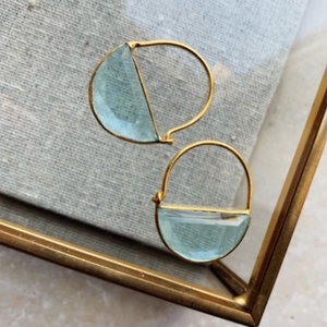 MINI IMOGEN EARRINGS - BLUE