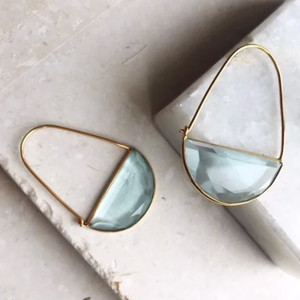 MACKE EARRINGS - SOFT BLUE