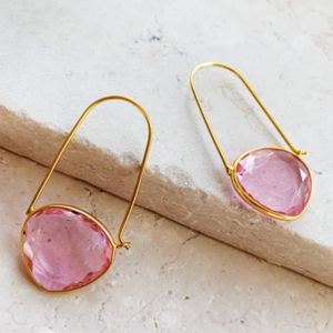 NAOMI EARRINGS - SOFT PINK