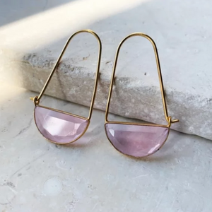 MACKE MINI EARRINGS - SOFT PINK