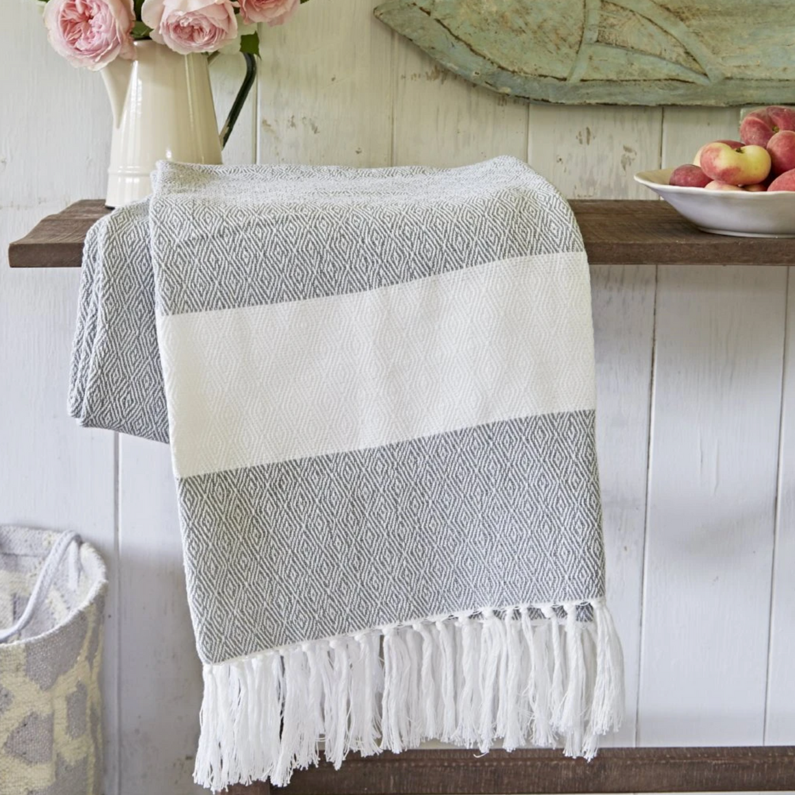 Dove Grey Hammam Throw